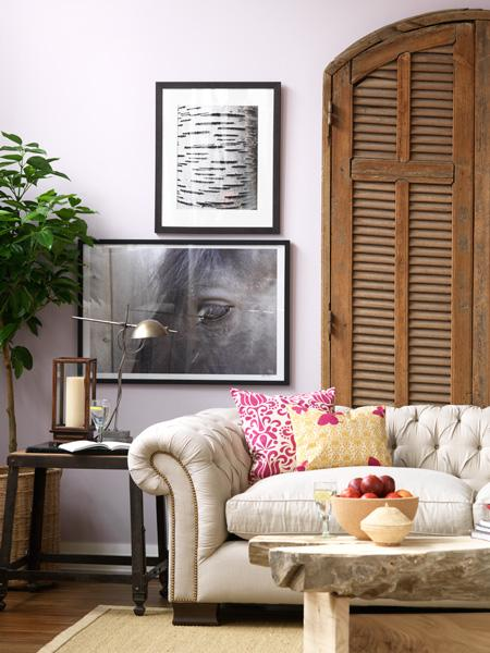 Color Theory Painting The Walls With Lavender Popsugar Home