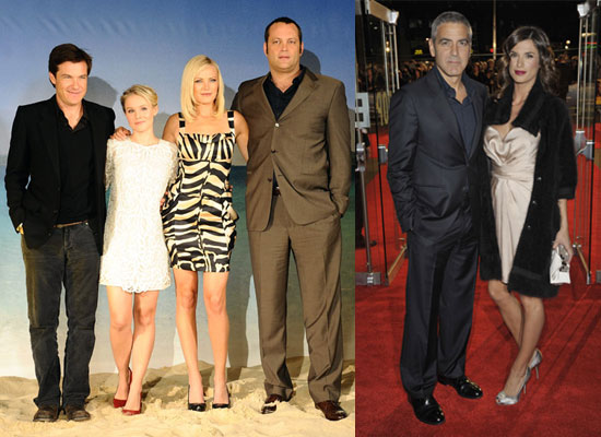 Gallery of George Clooney With Elisabetta Canalis at London Film Festival Pictures For Men Who Stare at Goats, Couples Retreat