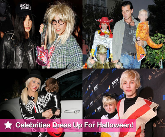 Extensive Photo Gallery of Celebrities in Fancy Dress Costumes For Halloween 2009 Including Stefani-Rossdales, Alexa Chung