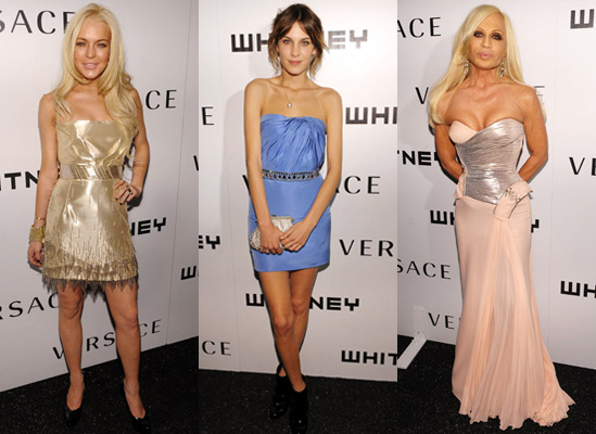 Photos from the Whitney Museum Gala with Versace, Alexa Chung, Taylor Momsen, Lindsay Lohan,
