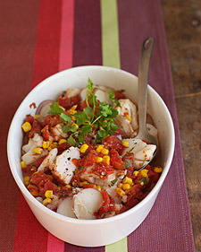 Easy Microwaved Mexican-Style Cod and Potato Stew Recipe