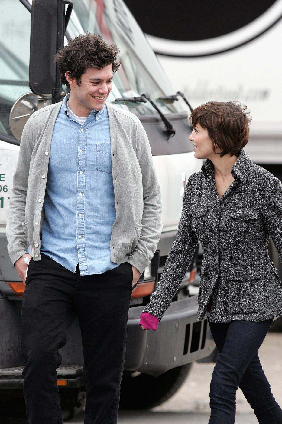 Adam Brody Goes For a Walk in Long Island While on a Break ...