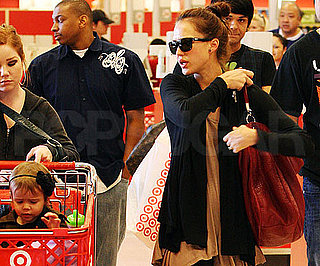 Slide Photo of Jessica Alba with Honor Warren at Target
