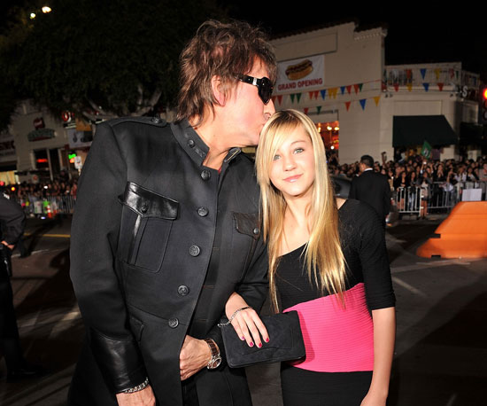 Slide Photo of Richie Sambora and Ava at New Moon Premiere