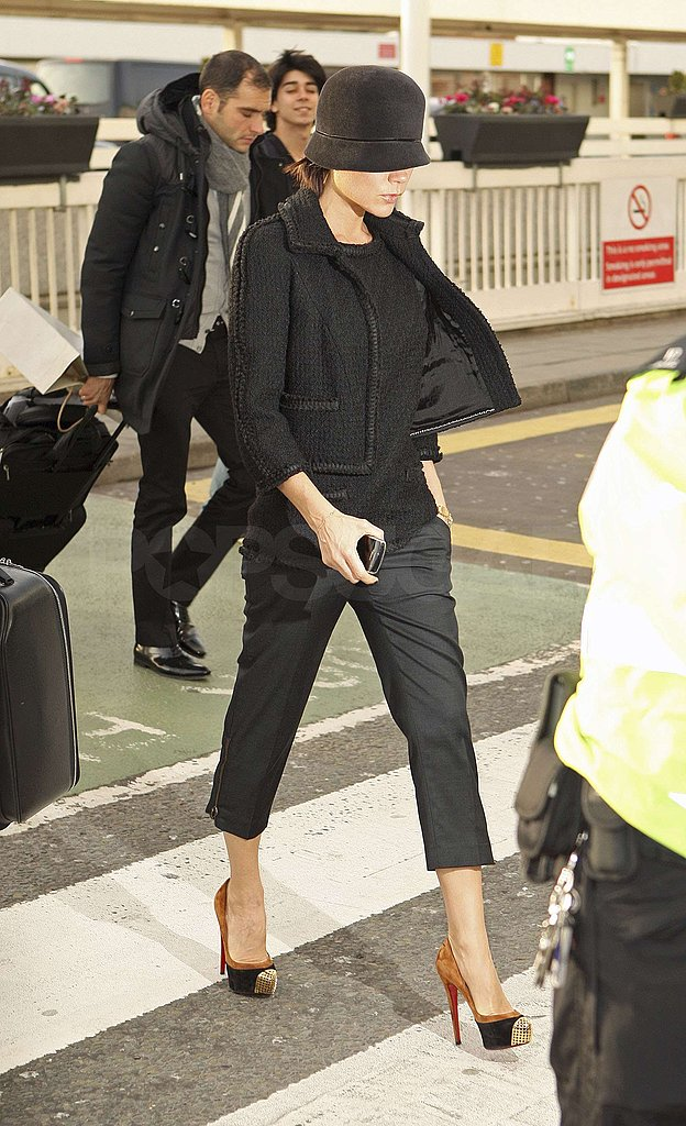 Photos of Victoria Beckham at London Hotel and Heathrow