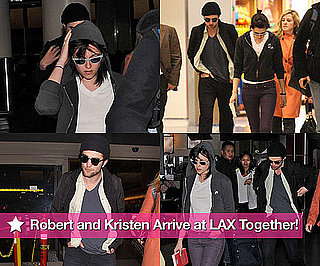 Rob and Kristen Arrive at LAX Together!