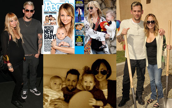 Photos and Story of Nicole Richie and Joel Madden Welcoming Sparrow in 2009