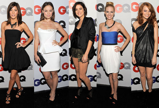 Photo of Emma Stone, January Jones, Olivia Wilde, Jennifer Carpenter, and Jessica Stroup at 2009 GQ Awards in LA