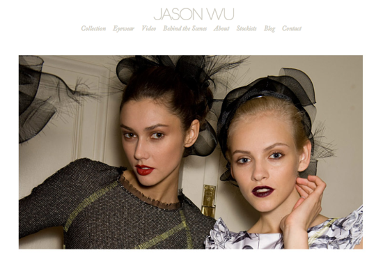 Jason Wu Launches New Website
