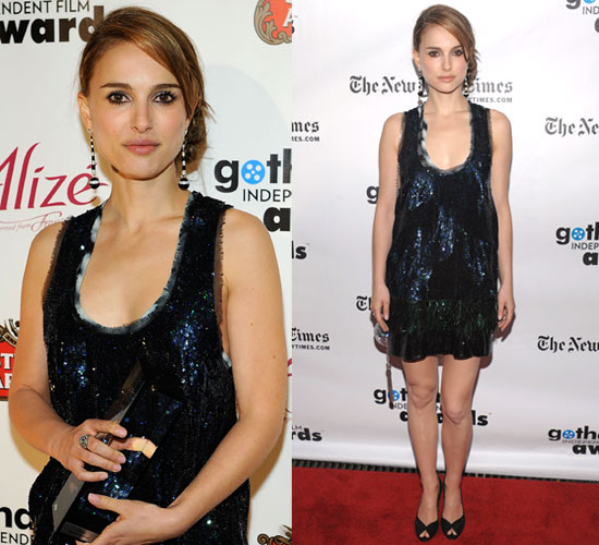 Photo of Natalie Portman in Proenza Schouler Dress at Gotham Independent Film Awards in NYC