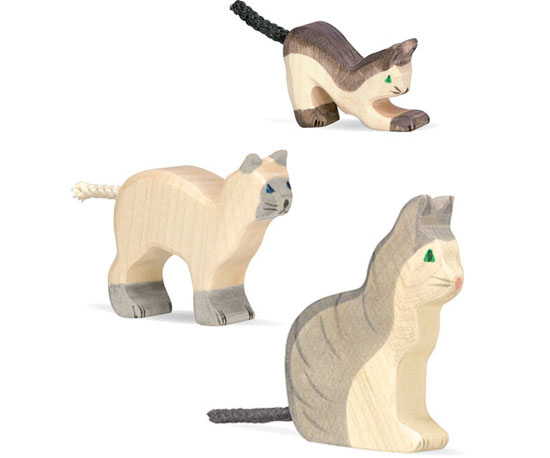 Wooden Cats