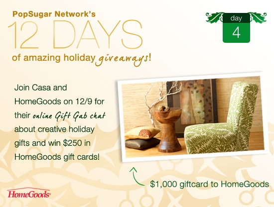 Win a $1,000 Gift Card From HomeGoods and CasaSugar
