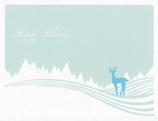 10 Snow Motif Holiday Cards on Etsy