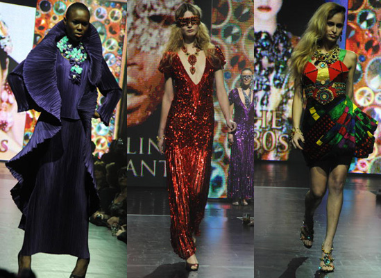 Celebrities Model at Butler and Wilson 40th Anniversary Show