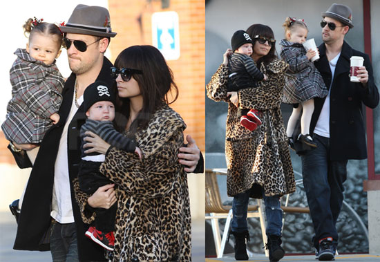 Photos of Nicole Richie, Joel Madden, Harlow Madden, And Sparrow Madden Together in LA
