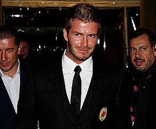 Slide Photo of David Beckham Arriving at a Press Conference in Italy