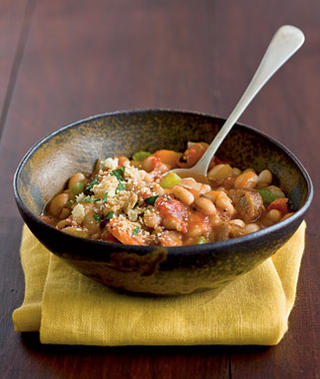 Easy Cassoulet With Sausage and White Bean Recipe