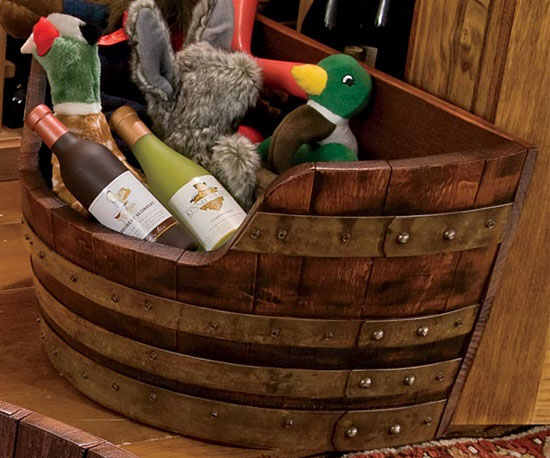 Wine Barrel Toy Chest