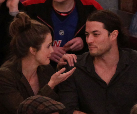 Slide Photo of Keri Russell and Shane Deary at Rangers Game