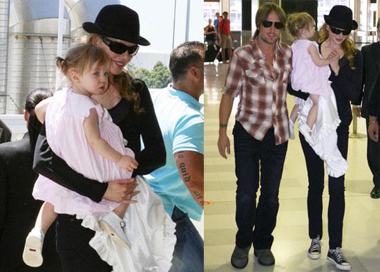 Photos of Nicole Kidman and Keith Urban Leaving Australia With Sunday Rose