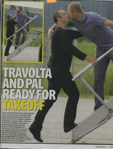 Travolta's Lip Lock