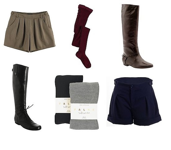 Shorts, Tights, Boots. Done.