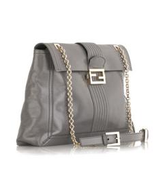 Fendi Oversized Logo Shoulder Bag