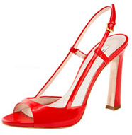 Red Miu Miu Slingback Pumps