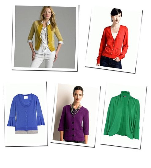 Fall Shopping: The Colored Cardigan