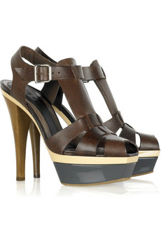 Marni Double Platform Peep-Toe Sandals $790 @ Net-a-Porter