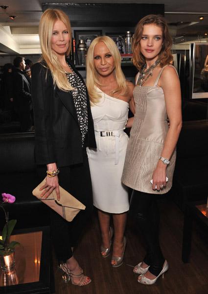 Claudia Schiffer, Donatella Versace, Natalia Vodianova