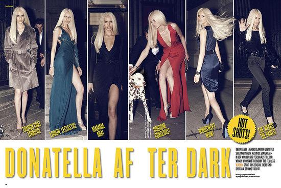 Donatella Versace Receives a Model Makeover in V#60