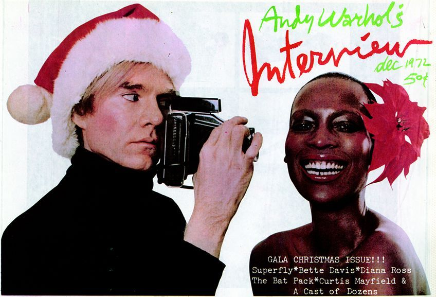 Dec. 1972: Interviewcover with Andy Warhol
