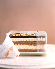 Black and White Peanut Bar Ice Cream Cake