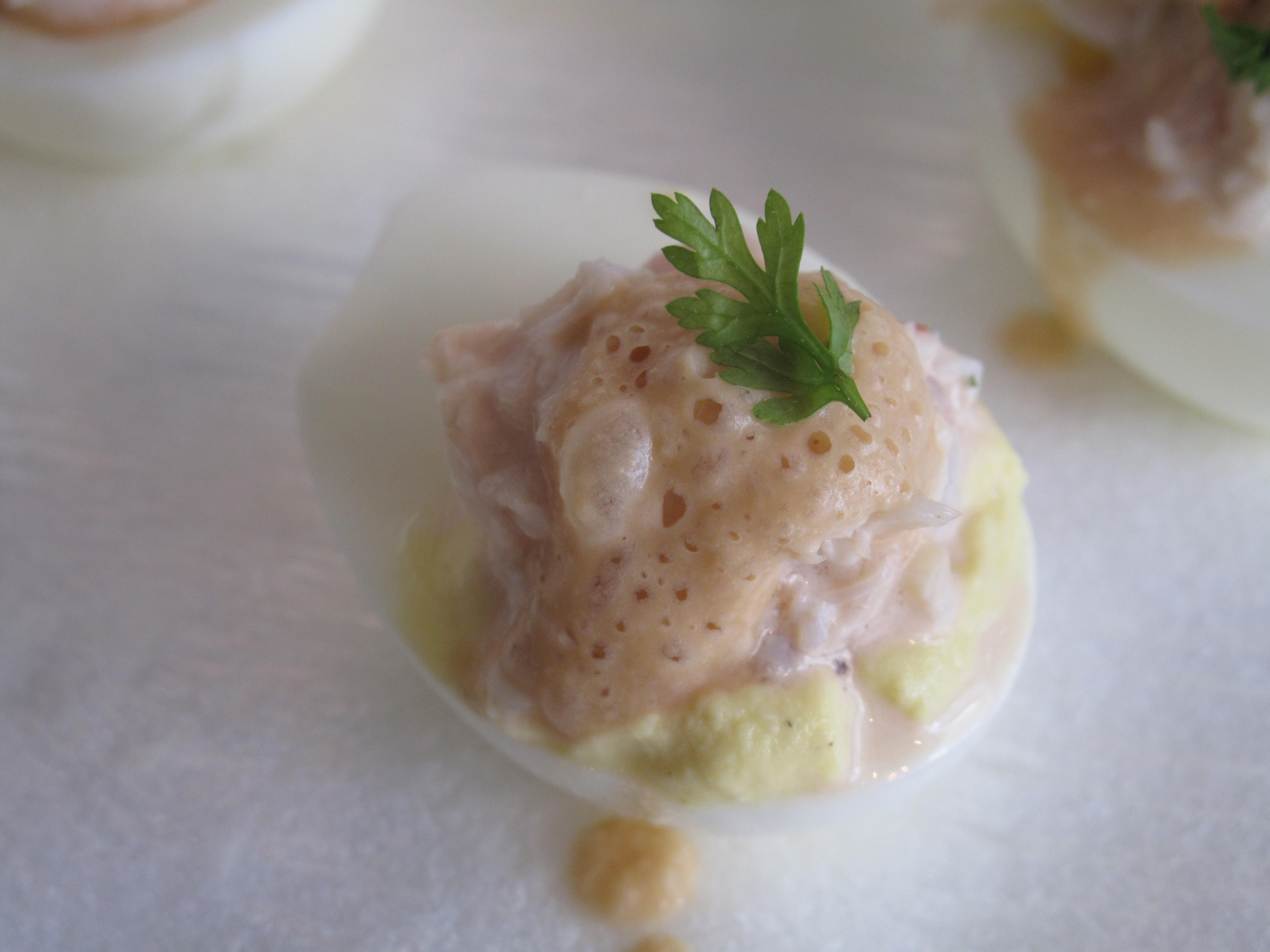 Seafood Deviled Egg