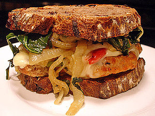 Recipe For Chicken Sandwich With Roasted Peppers, Onions, and Southern Greens 2009-08-12 09:37:31