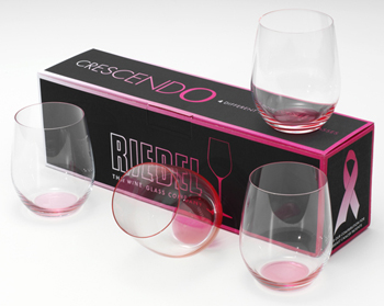 Riedel Crescendo Pink Wine Glasses