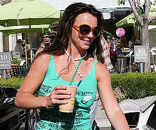 Slide Photo of Britney Spears at Starbucks in Before the Fourth