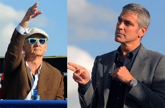 Photos of George Clooney and Bill Murray