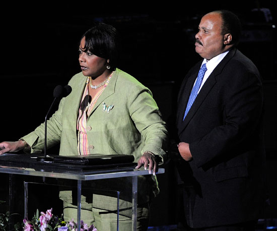 Bernice A. King and Martin Luther King III