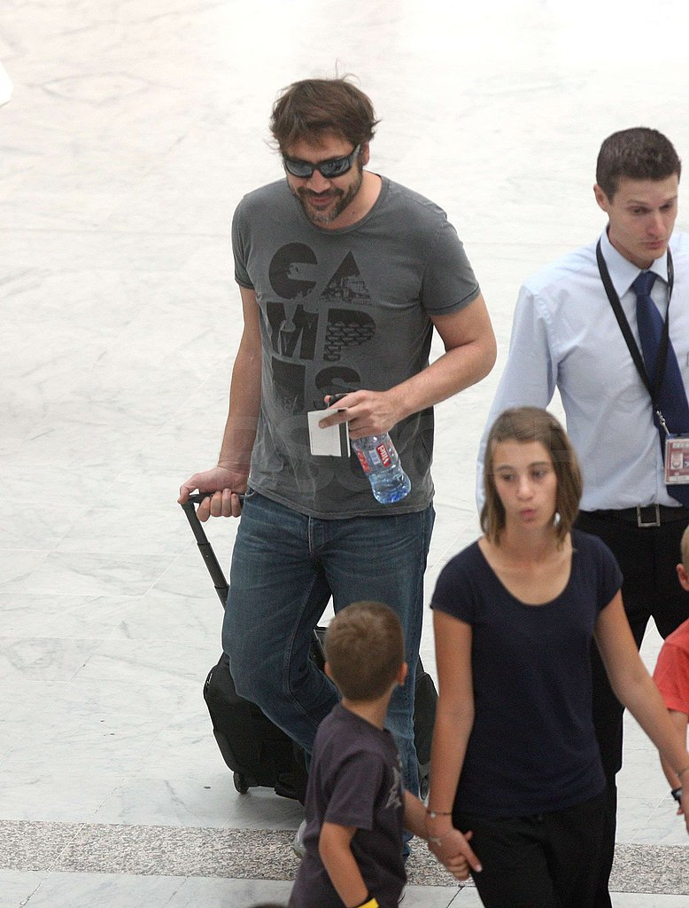 Photos of Javier Bardem at Nice Airport