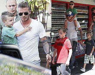 Photos of David Beckham and Boys in LA