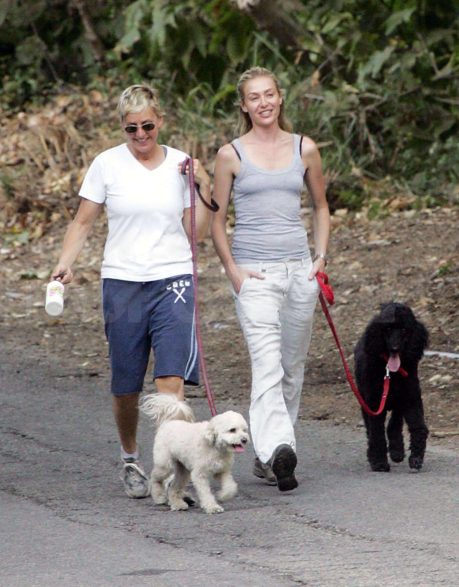 Photo of Portia De Rossi & her Dog