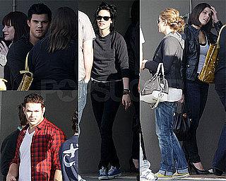 Photos of Robert Pattinson, Kellan Lutz, Kristen Stewart, Taylor Lautner at New Moon Viewing