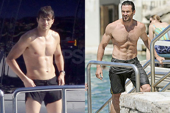 Ashton Kutcher vs. Hugh Jackman