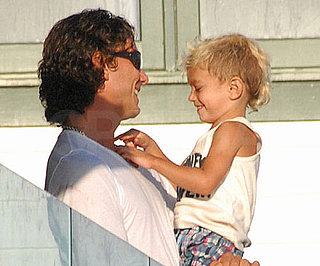 Slide Photo of Kingston and Gavin Rossdale in Malibu Laughing