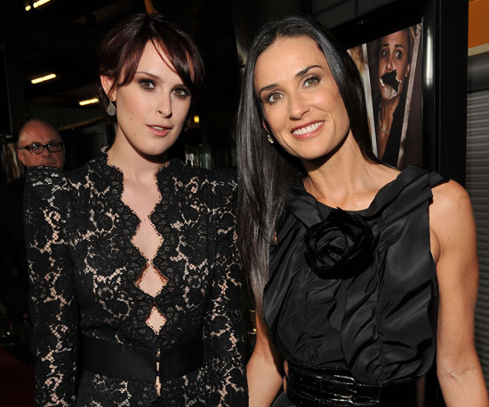 Slide Photo of Demi Moore and Rumer Willis