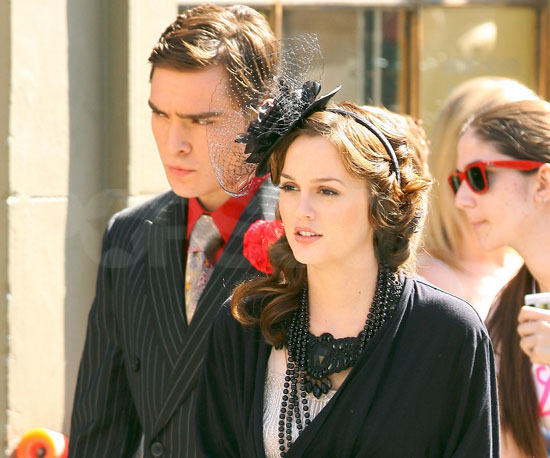 Photo Slide of Ed Westwick And Leighton Meester Filming Gossip Girl in NYC