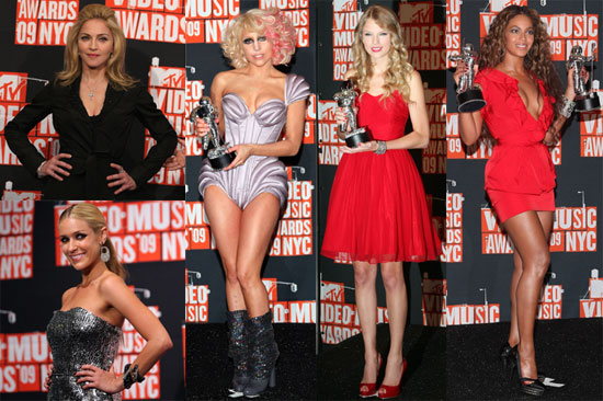 Photos of Madonna, Kristin Cavallari, Beyonce Knowles, Billie Joe Armstrong, Taylor Swift, Russell Brand, and Lady Gaga VMA Pres 2009-09-14 08:30:00