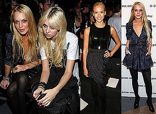 Photos of Lindsay Lohan and Others at Fashion Week